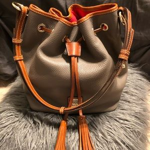 Dooney and Bourke pebble leather drawstring bag